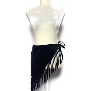 Black sarong with fringe